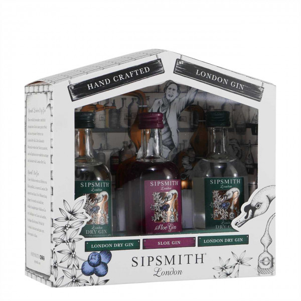 Sipsmith London Gin Mini Collection (3 x 0,05L)