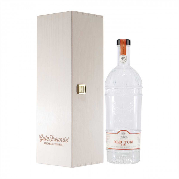 City of London Old Tom Gin No.3 mit Geschenk-Holzkiste