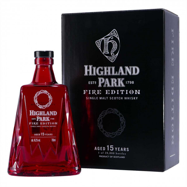 Highland Park Single Malt Scotch Whisky FIRE Edition 15 J