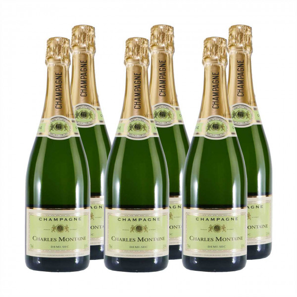 Champagner Charles Montaine Demi Sec (6 x 0,75L)