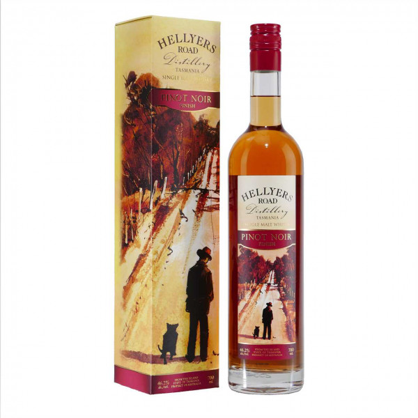 Australischer HELLYERS ROAD Pinot Noir Single Malt Whisky