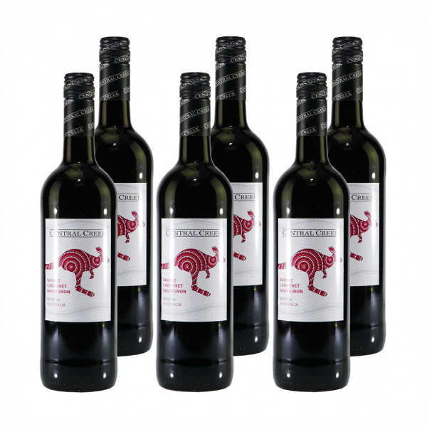 Central Creek Shiraz-Cabernet Sauvignon Rotwein (6x0,75L)