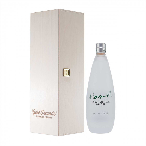 Haswell London Dry Gin mit Geschenk-Holzkiste