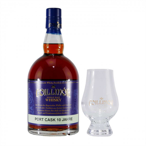 Coillmór Whisky Port Cask 10 Years mit 6 Gläsern